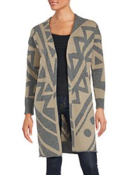 360 Sweater Geometric Wool Blend Cardigan Graphite Pebble