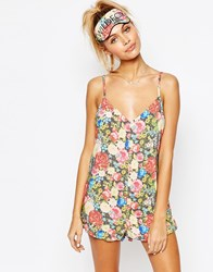 Wildfox Couture Wildfox Valentines Flower Ruffle Romper Multi