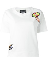 Boutique Moschino Embroidered T Shirt White