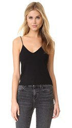 Alexander Wang Milano Knit Cropped Camisole Black