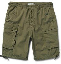 Nonnative Trooper Cotton Ripstop Cargo Shorts Green