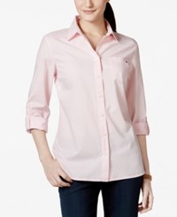 Tommy Hilfiger Solid Button Down Shirt Basic Pink