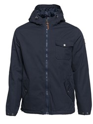 Element Men's Freemont Cotton Blend Canvas Zip Up Jacket Navy