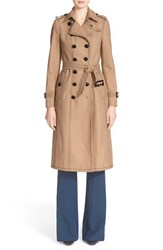 Women's Burberry Prorsum Cotton Gabardine Slim Trench Coat