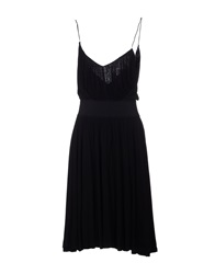 Alessandro Dell'acqua Knee Length Dresses Black