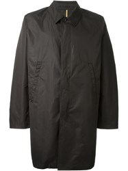 Ps Paul Smith Buttoned Midi Raincoat Black
