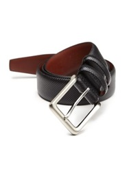 Saks Fifth Avenue Textured Leather Belt Black Brown