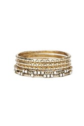 Forever 21 Rhinestone Etched Bangle Set