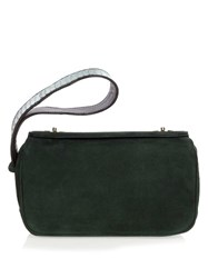 F.E.V. Time Square Suede Clutch Green