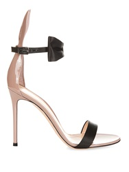 Gianvito Rossi Bunny Bow Tie Patent Leather And Satin Sandals