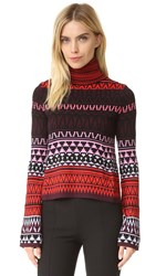 Mcq By Alexander Mcqueen Fair Isle Turtleneck Sweater Fair Isle Red