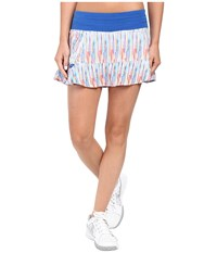 Tasc Performance Rhythm Skirt Rainbow Rain Dory Blue Women's Skort