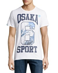 Superdry Osaka Mountain Graphic Tee Optic White