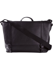 Burberry Buckle Strap Messenger Bag Black