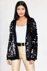 Silence And Noise Stassy Sequin Cardigan Black