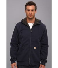 Carhartt Brushed Fleece Sweatshirt Sherpa Lined New Navy Men's Coat