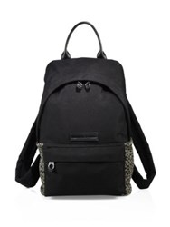 Mcq By Alexander Mcqueen Leather Trimmed Backpack Black