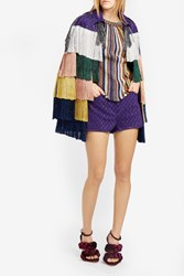 Missoni Women S Knitted Shorts Boutique1 Purple