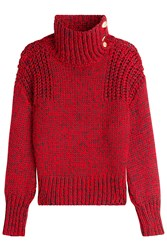 Rag And Bone Turtleneck Pullover With Wool Red