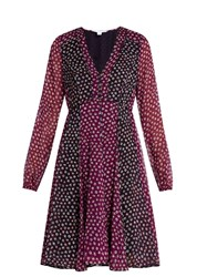 Diane Von Furstenberg Ivetta Dress Purple Multi