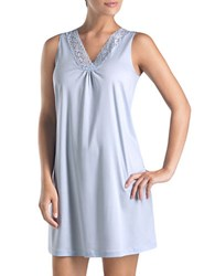 Hanro Moments Tank Nightgown Blue Glow