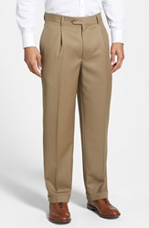 Men's Nordstrom Pleated Wool Gabardine Trousers Tan