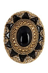 House Of Harlow Wari Ruins Cocktail Ring Size 8 Black