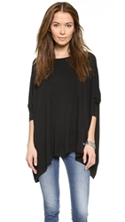 Air By Alice Olivia Boatneck Rectangle Tee Black