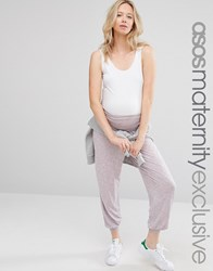 Asos Maternity Lounge Hareem Pant In Lilac Space Dye Lilac Pink