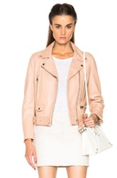 Acne Studios Mock Leather Jacket In Pink