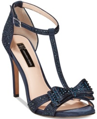 Inc International Concepts Women's Reesie Rhinestone Bow Evening Sandals Only At Macy's Women's Shoes Eclipse Blue