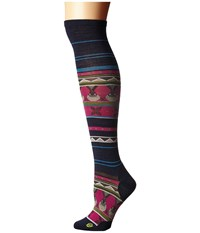 Smartwool Charley Harper Glacial Bay Seal Knee Highs Deep Navy Heather Women's Knee High Socks Shoes