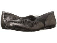 Softwalk Norwich Pewter Metal Glazed Snake Women's Dress Flat Shoes