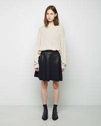 3.1 Phillip Lim Coated Wool Skirt Midnight Black