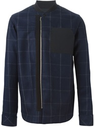 Tim Coppens Checked Zip Jacket Blue