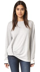 Rag And Bone Knot Drape Pullover Heather Grey