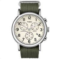 Timex Weekender Chrono Oversized Cream And Green