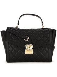 Love Moschino Quilted Tote Bag Black