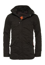 Superdry Rookie Military Parka Jacket Black