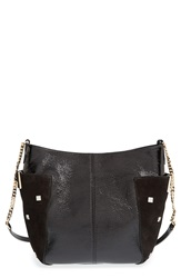 Jimmy Choo 'Small Anabel' Crinkled Patent Leather Crossbody Bag Black