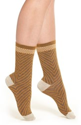 Sockwell Women's 'Very V' Merino Wool Blend Socks Ochre