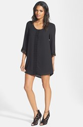 Women's Astr Lace Trim Shift Dress Black