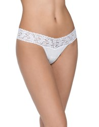 Hanky Panky Cotton With A Conscience Low Rise Thong White