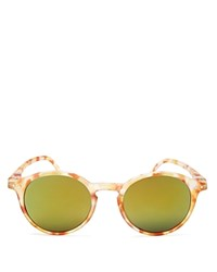 See Concept Mirrored Letmesee Collection D Sunglasses 40Mm Yellow Tortoise Yellow Mirror