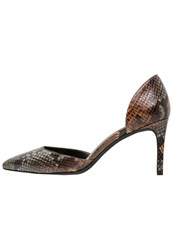 Kenneth Cole New York Gem Classic Heels Brown Multicolor Grey