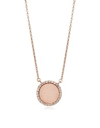 Michael Kors Heritage Rose Gold Pvd Charm Necklace Pink