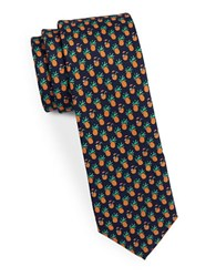 Original Penguin Skinny Pineapple Tie Navy