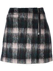 Markus Lupfer Checked Mini Skirt Black