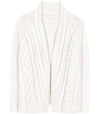 Velvet Melanie Wool Blend Cardigan White