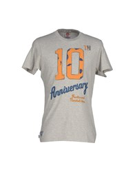 Franklin And Marshall Topwear T Shirts Men Light Grey